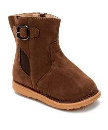 Mooshu Trainers Classy Pair Of Boots - Chocolate Brown