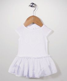 Freshly Squeezed Heart Applique Dress - White