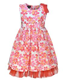 Pspeaches Floral Print Dress - Red & Pink