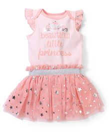Freshly Squeezed Attractive Onesie & Skirt Set - Peach