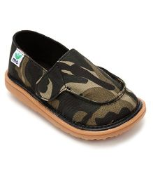 Mooshu Trainers Camouflage Print Stylish Pair Of Shoes - Green