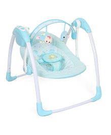 Mastela Deluxe Portable Swing - Aqua Blue