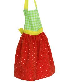 Kadambaby Princess Apron - Red Green