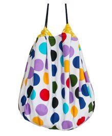 Kadambaby Playmat Cum Toy Storage Bag With Polka Dots - Multi Color