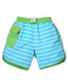 I Play Shorts With Built - In Swim Diaper - Blue & Green