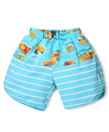 I Play Shorts With Built - In Swim Diaper - Blue