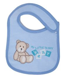 Little Hip Boutique Little Bear Print Bib - Blue