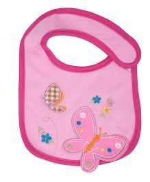 Little Hip Boutique Butterfly Bib - Pink