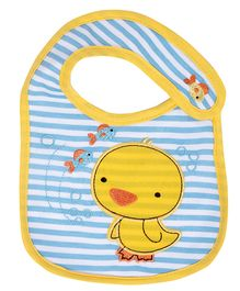 Little Hip Boutique Ducky Bib - Blue & Yellow