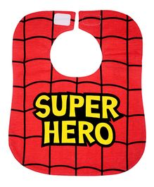Little Hip Boutique Super Hero Print Bib - Red