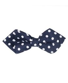 Little Hip Boutique Polka Dot Pin Bow - Blue