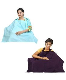 Lula Mom Nursing Cover Pack of 2 - Green And Brown