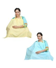 Lulamom Nursing Cover Pack of 2 - Yellow And Green