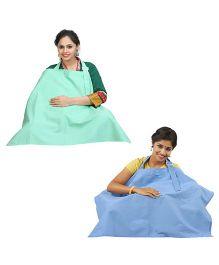 Lulamom Nursing Cover Sea Green Blue - Pack of 2