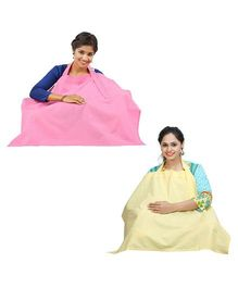 Lulamom Nursing Cover Yellow Pink - Pack of 2