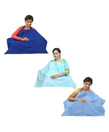Lula Mom Nursing Cover Pack of 3 - Blue Green Royal Blue