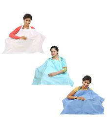 Lula Mom Nursing Cover Pack of 3 - White Green Blue