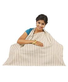 Lulamom Stripe Nursing Cover - White Beige