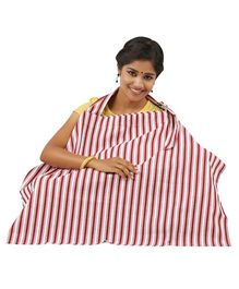 Lulamom Stripe Nursing Cover - Red White