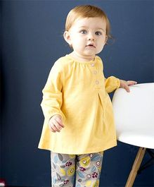 dave & bella Full Sleeves Top and Bottom Set - Yellow