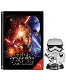 Star Wars The Force Awakens With Storm Trooper Bobble Head Movie DVD - English