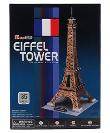 CubicFun Eiffel Tower France Puzzle Multicolor - 35 Pieces