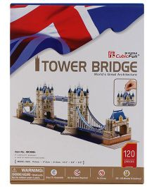CubicFun Tower Bridge UK Puzzle Multicolor - 120 Pieces