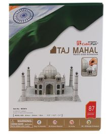 CubicFun Taj Mahal India 3D Puzzle Multicolor - 87 Pieces