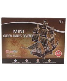 CubicFun Queen Anne's Revenge 3D Puzzle Multicolor - 24 Pieces