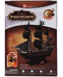CubicFun The Queen Anne's Revenge Puzzle Multicolor - 155 Pieces