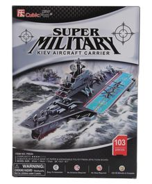 CubicFun Kiev Aircraft Carrier 3D Puzzle Multicolor - 103 Pieces