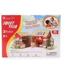 CubicFun Sweet Villa Puzzle Multicolor - 84 Pieces