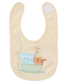 Spasilk Animal Print Bib - Yellow