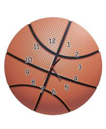 Baby Oodles Basketball Wall Clock - Orange
