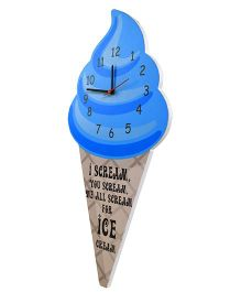 Baby Oodles Ice Cream Cone Wall Clock - Blue And Beige