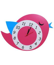 Baby Oodles Lil Birdie Clock - Pink And Blue