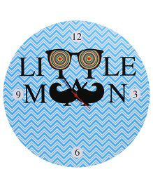 Baby Oodles Little Man Wall Clock - Blue
