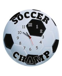 Baby Oodles Soccer Wall Clock - Black And White