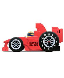 Baby Oodles Super Racer Car Wall Clock - Red