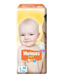 Huggies New Dry Taped Diapers Large - 28 Pieces