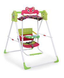 Baby Garden Swing - Green And Pink