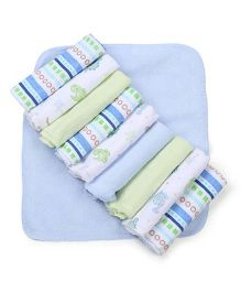 Spasilk Pack Of 10 Washcloths - Multicolor