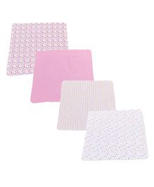 Spasilk Printed Pack Of 4 Blanket - Multicolour