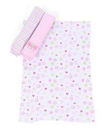Spasilk Animal Print Pack Of 3 Burp Cloth - Multicolor