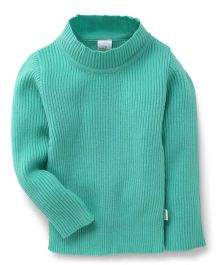 Babyhug Full Sleeves High Neck Sweater - Green