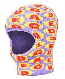 Babyhug Monkey Cap Alphabet Design - Purple