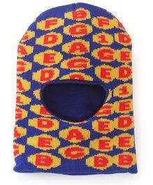 Babyhug Monkey Cap Alphabet Design - Blue