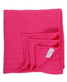 Green Sprouts Pack Of 2 Muslin Swaddle Blankets - Pink & White