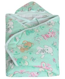 Tinycare Hooded Baby Wrapper - Green