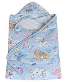 Tinycare Hooded Baby Wrapper - Blue